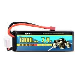 Batería de lipo 7,4V 6000Mah 50C Hardcase (Dean) - E-flite