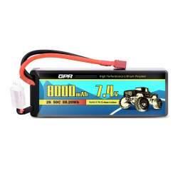 Batería de lipo 7,4V 8000Mah 50C Hardcase - Dean
