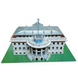 Puzzle de madera 3D de la Casa Blanca - Cebekit