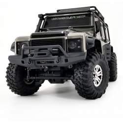 Crawler SUV Land Rover Defender D90 1/10 2.4G 4x4 RTR, Plata