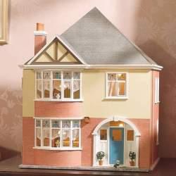 Casa de muñecas moderna de 3 plantas.