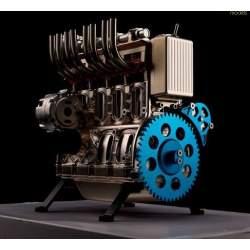 Motor, kit 1/3 en metal de 4 cilindros champán, Thicon-Models