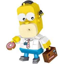Construcción de bloques Homer Simpson - Loz