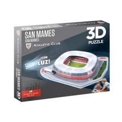 Puzzle Estadio 3D SAN MAMES (Athletic Club) C/ Luz