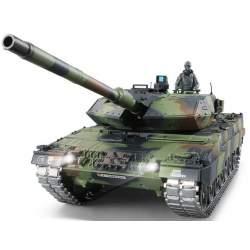 Tanque RC German Leopard 1:16 2A6 Versión v7.0 cadenas de metal - Heng Long