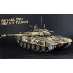 Tanque 1/16 Ruso T-90 PRO Airsoft Cadenas metálicas V7.0 Emisora 2.4G T90 - Heng Long