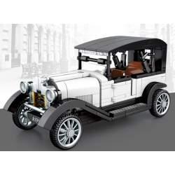 Construcción de bloques, FAMOUS CAR 1929 CLASSIC Blanco - SEMBO