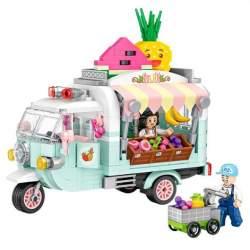 Construcción de bloques, Furgoneta Fruit truck 480 piezas - Loz