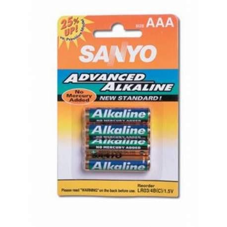 Blister 4 pilas alcalinas Sanyo 1.5 V AA