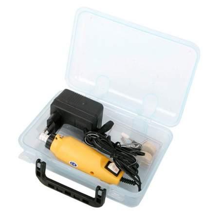 Mini taladro con 15 accesorios. 12v. 135w.