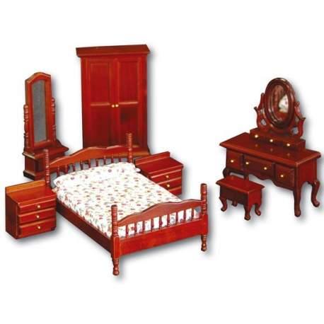 Dormitorio principal 1:12 para casa de muñecas
