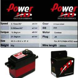 Servo digital Power HD DC1217MG con motor Coreless