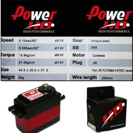 Servo digital Power HD DC1217MG con motor Coreless