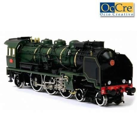 Locomotora Pacific de Occre en kit para montar en madera. Modelismo ferroviario