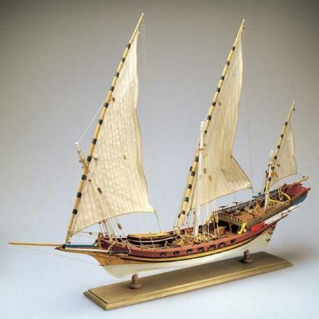 Maqueta Jabeque Sciabecco 1753 1:60 buque armado 1:60 Amati Modelismo