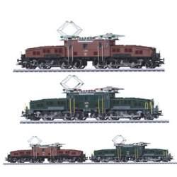 Set dos locomotras eléctricas cocodrilo suizas serie Ce 6/8 II, SBB Marklin escala HO
