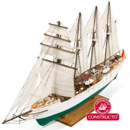 Maqueta naval Buque Escuela J.S.Elcano Constructo 1:205