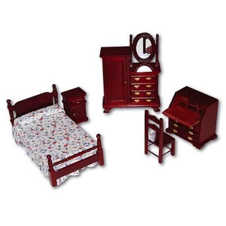 Dormitorio jóvenes 1:12 para casa de muñecas