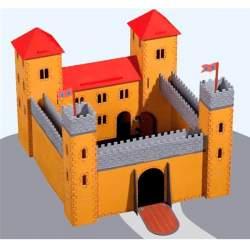 Castillo medieval de madera de contrachapado, para construir