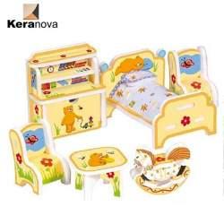 Habitacion de niños de carton para casas de muñecas. Clever Paper Keranova