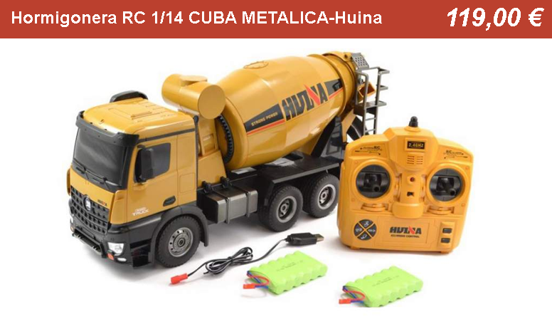 Hormigonera RC 1/14 CUBA METALICA-Huina