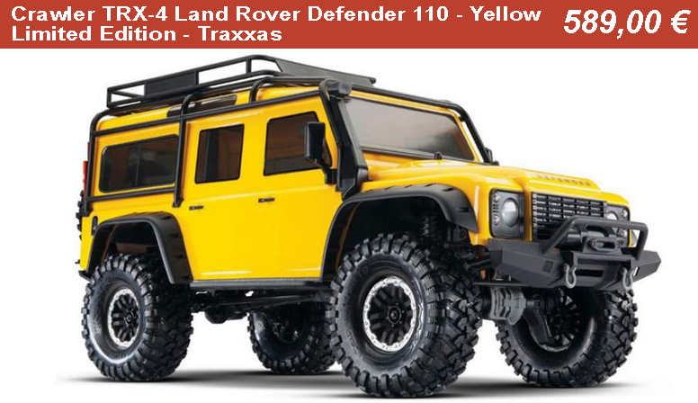 Crawler TRX-4 Land Rover Defender 110 - Yellow Limited Edition - Traxxas