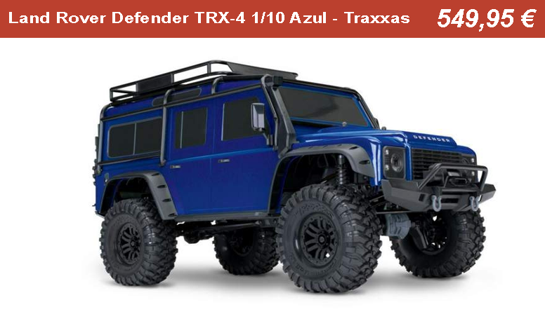 Land Rover Defender TRX-4 1/10 Azul - Traxxas