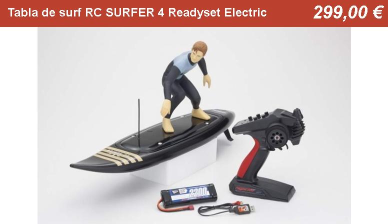 Tabla de surf RC SURFER 4 Readyset Electric (KT231P+) Kyosho