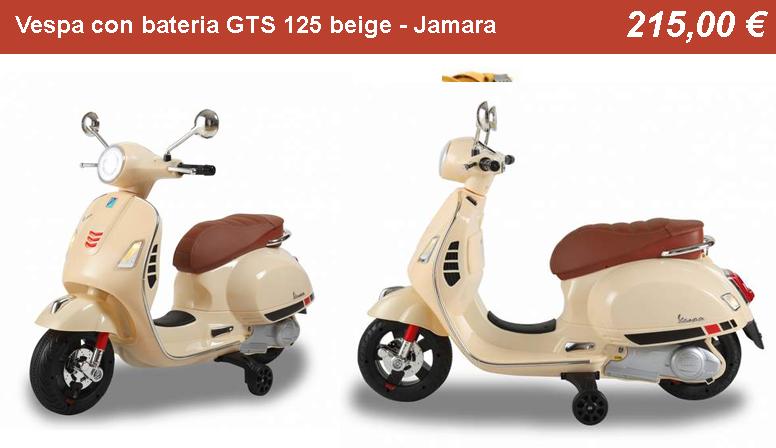 Vespa con bateria GTS 125 beige - Jamara